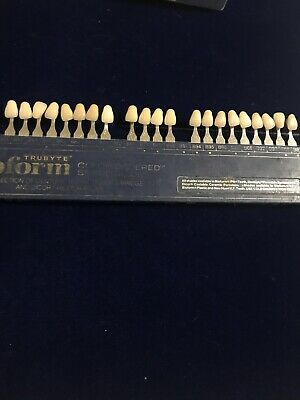 Dentsply Trubyte Bioform Color Ordered Dental Tooth Shade Guide Dental Lab