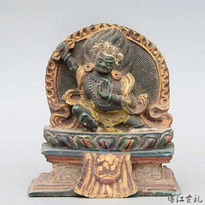 Collect China Old Lacquerware Hand-Carved Happy Buddha Delicate Buddhism Statue