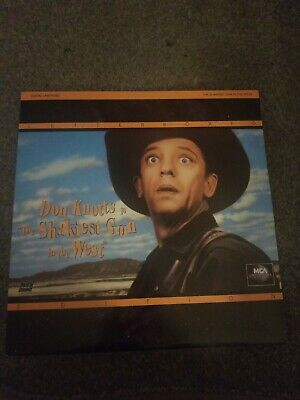 THE SHAKIEST GUN IN THE WEST Laserdisc LD WIDESCREEN DON KNOTTS FUNNY W/TRAILER!
