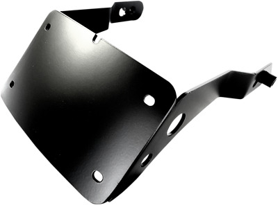 Cycle Visions Curved License Plate Mounts Black #CV4650MT