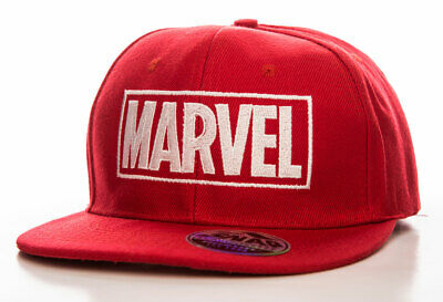 Officially Licensed Marvel Red Logo Adjustable Size Snapback Cap