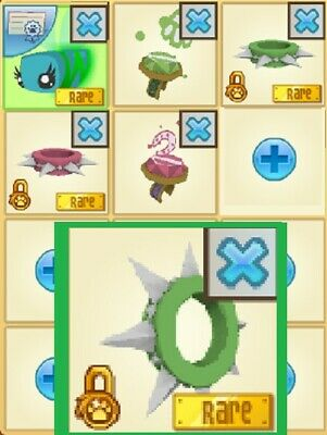 Animal Jam Rares - RARE Green Long Spiked Collar Set + Promos