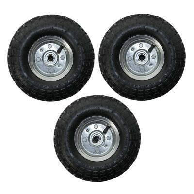 """3 Pack 10"""" Replacement Spare Wheel Tyre 4.10 /3.50 - 4 Garden Tool Cart Sack"""