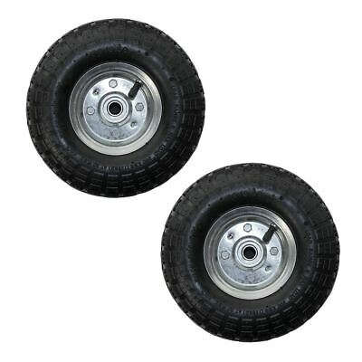 """Twin Pack 10"""" Replacement Spare Wheel Tyre 4.10 /3.50 - 4 Garden Tool Cart Sack"""