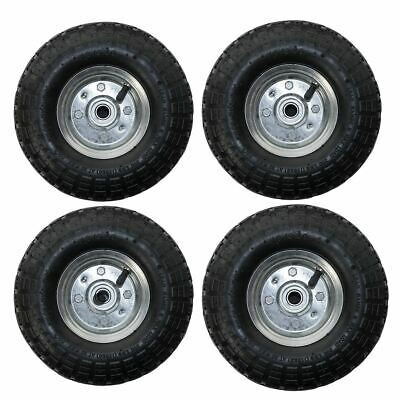 """4 Pack 10"""" Replacement Spare Wheel Tyre 4.10 /3.50 - 4 Garden Tool Cart Sack"""