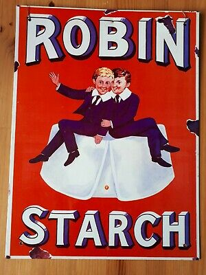Robin Starch Metal Advertising Sign