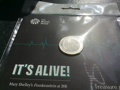 £2 Frankenstein. Royal Mint brilliant uncirculated pack. Dated 2018. Unreleased.