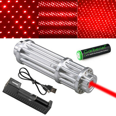 Military 650nm 1mW Red Laser Pointer Pen Powerful Beam Light Focus+18650+Charger