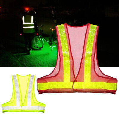 Visibility Traffic Safety Tops Reflective Vest Day Night Unisex Mesh Fabric