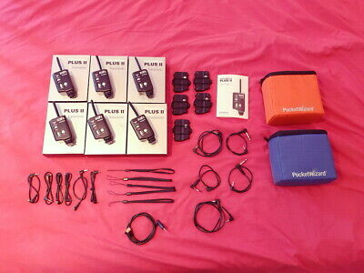 6x PocketWizard Plus II Transceivers + Cables/Boxes/Manuals + Storage Cases