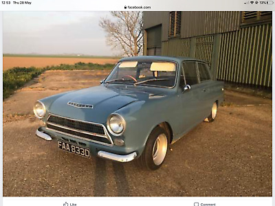 FORD CORTINA MK1 AQUA BLUE 1966 D FITTED WITH 1600gt ENGINE GREAT CONDITION MOT