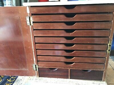 Quality Mahogany Collector Chest of Draw Slides