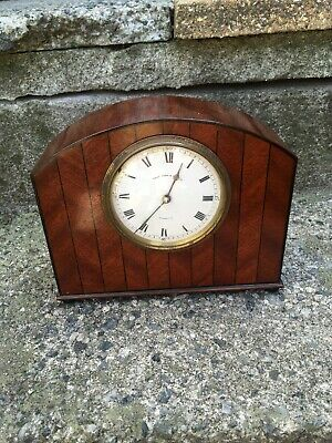 Beautiful C1900 PAge Keen And Page Plymouth Wooden Mantel Colck Winding Movement