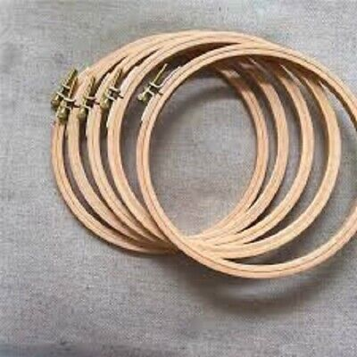 Bamboo Wooden Hoop  ideal for Embroidery Cross Stitch Sewing 1 x 7 inch