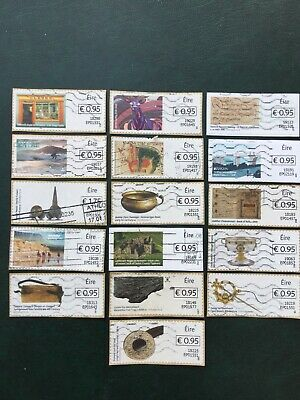 Ireland. Post And Go.  16 Stamps With BOXED IN Values. As Illustrated.