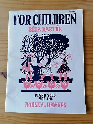 For children piano music book Bela Bartok