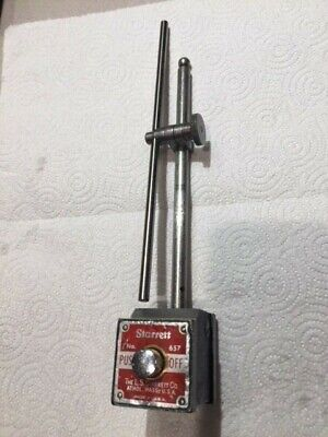 Starrett No. 657AA magnetic base with Rod & Clamp