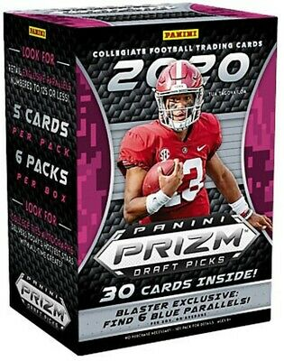 2020 Panini Prizm Draft Picks Football Blaster SEALED Possible JOE BURROW ROOKIE
