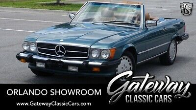 1987 Mercedes-Benz SL-Class  Petrol blue green metallic 1987 Mercedes-Benz 560SL Convertible 5.6L V8 4 speed