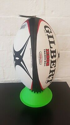 Gilbert Zenon Training Rugby Ball Size 5 White/Black/Red BRAND NEW WITH TAG!