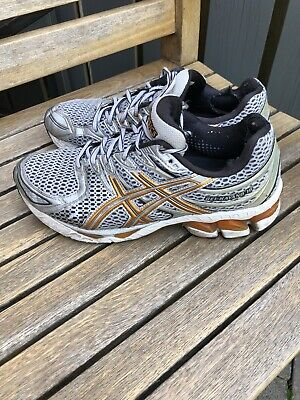 Asics Trainers Gel Kayano 16 Men's Size 8 Silver Running