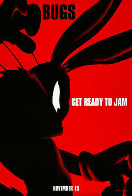 SPACE JAM MOVIE POSTER 2 Sided ORIGINAL BUGS VF 27x40 LOONEY TUNES