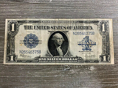 1923 $1 Silver Certificate Note Large Size Currency Banknote