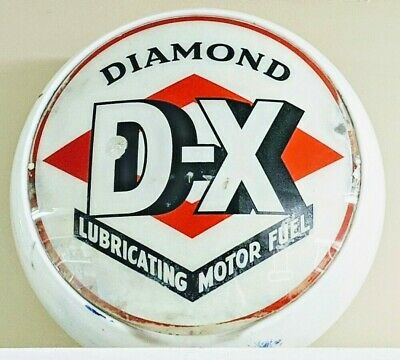 Diamond D-X Gasoline Gas Pump Globe Late 1930S-40S ~ Please Read