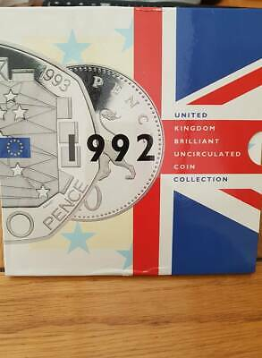 Royal Mint 1992 Bunc coin set with 50p EEC Presidency coin