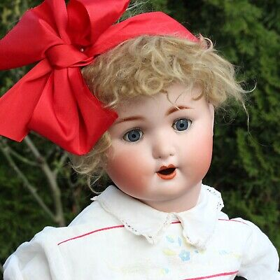 Antique Porzellan Baby Doll Schützmeister & Quent Character Puppe 1910s & Dress