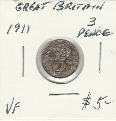 Great Britain 1911 3 Pence