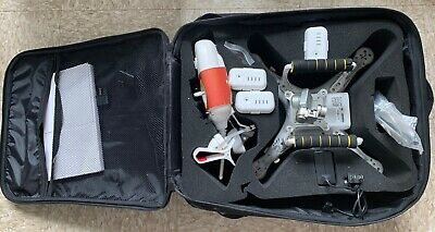 DJI Phantom 2 Quadcopter Drone Pv331 White Fully working with backpack 3 batteri