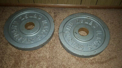 25lb Olympic Weight Plates Pair : 2 Plates 50lbs Total : BARBELL STANDARD PLATES