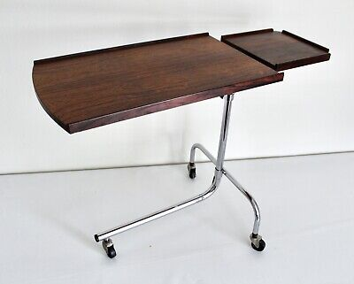 HMN Vtg Mid Century Danish Modern Rosewood Adjustable Reading Side Tray Table