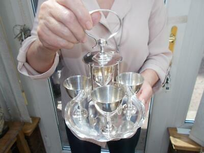 Nice Quality Adelphi Silver Plate Of New York 4 Egg Cups & Spoons On Stand