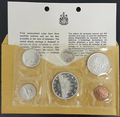 1965 Canada Silver Proof Like Mint Set Pl With Original Coa + Envelope!! Mint!