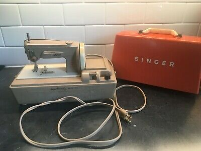Singer Sewhandy Electric Toy Sewing Machine 50D WORKING, mini 401 Slant-O-Matic!