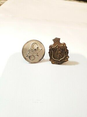 Lot of 2 Mardi Gras CUFFLINKS (1965 Knights of Babylon & 1972 Krewe of Diana)