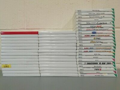 52 x  Nintendo Wii Official Empty Game Cases - Mario Sonic Cars Fifa