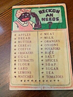 Antique Vintage African American wood kitchen sign