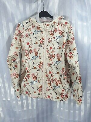 NEXT Girls Floral Hooded light weight Wind Breaker Jacket Age 11