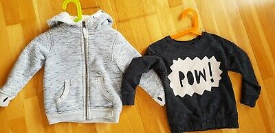NEXT girls 3-4 years BLACK GREY jumper cardigan warm hoodie BUNDLE x 2