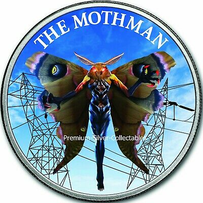 2019 USA Cryptozoology Series Mothman! - Silver Colorized Series!!