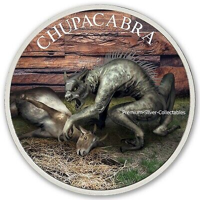 2019 USA Cryptozoology Series Chupacabra! - Silver Colorized Series!!