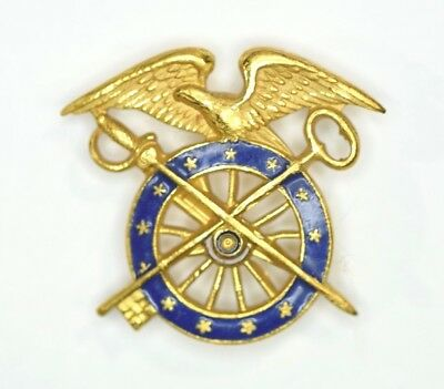 Exquisite Gold Sew On WWI U.S. Army Quartermaster Officer's Insignia - Pristine