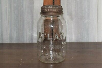 Atlas Strong Shoulder Quart Mason Jar - Clear Glass with Glass Sealer Top Lid