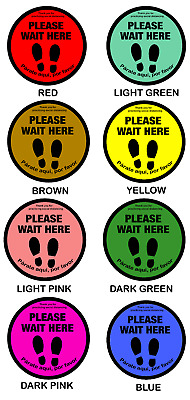 Social Distancing Floor Decal Sticker High Quality | 6 feet apart  Pack of 5