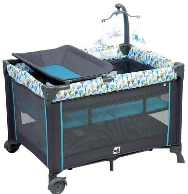 Kidsry Baby Portable Sturdy Play Yard with Comfortable Mattress Changing Station