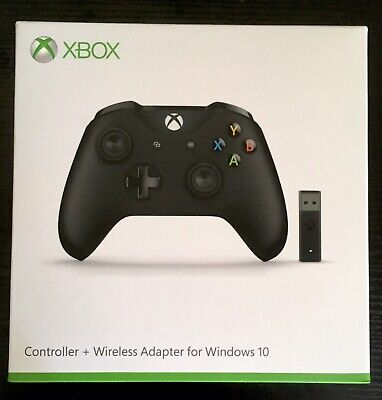 Official Microsoft Xbox One Controller with Wireless Adapter for Windows 10 PC