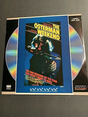 The Osterman Weekend  Laserdisc LD Rutger Hauer Rare